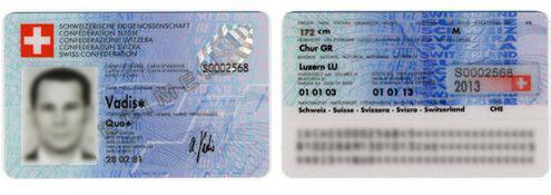 Carte Identite Suisse.Carte D Identite Republique Et Canton De Neuchatel